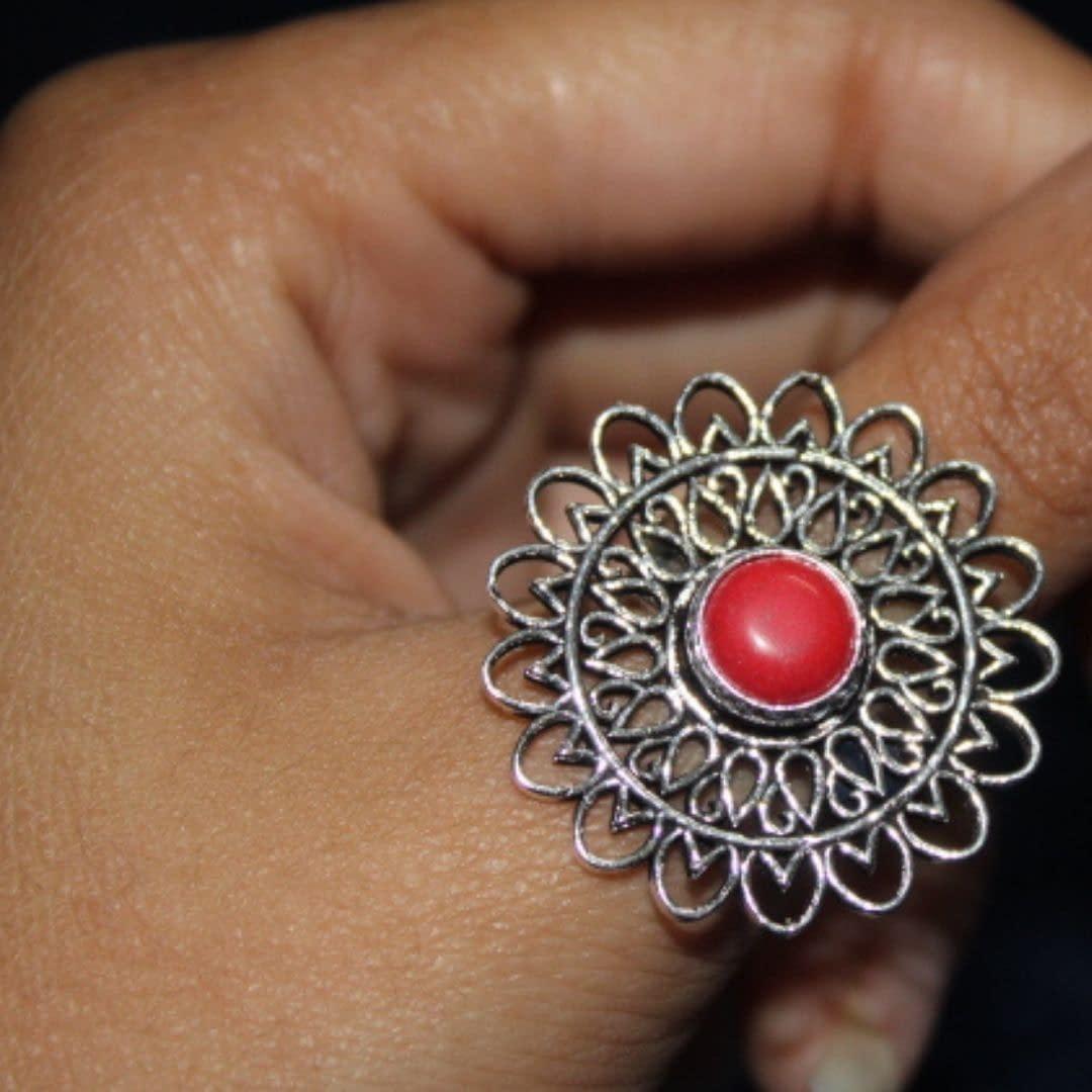 Handmade Stone Ring – Pink 4