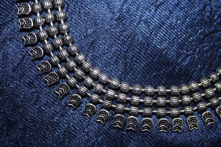 Handmade Triple chain necklace 5