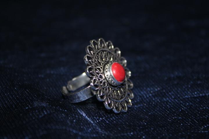 Handmade Stone Ring – Pink 3