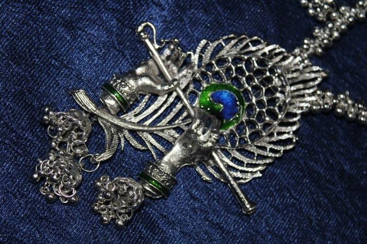 Handmade Krishna Necklace set- Shyama 5