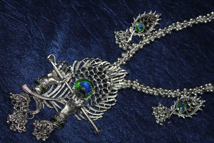 Handmade Krishna Necklace set- Shyama 3