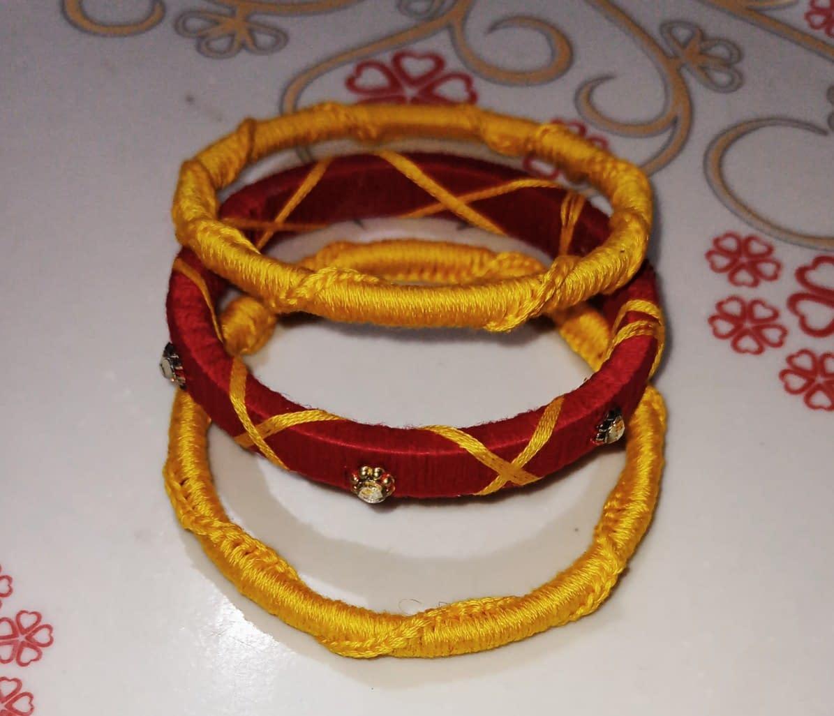 Handmade Red Bangles 4