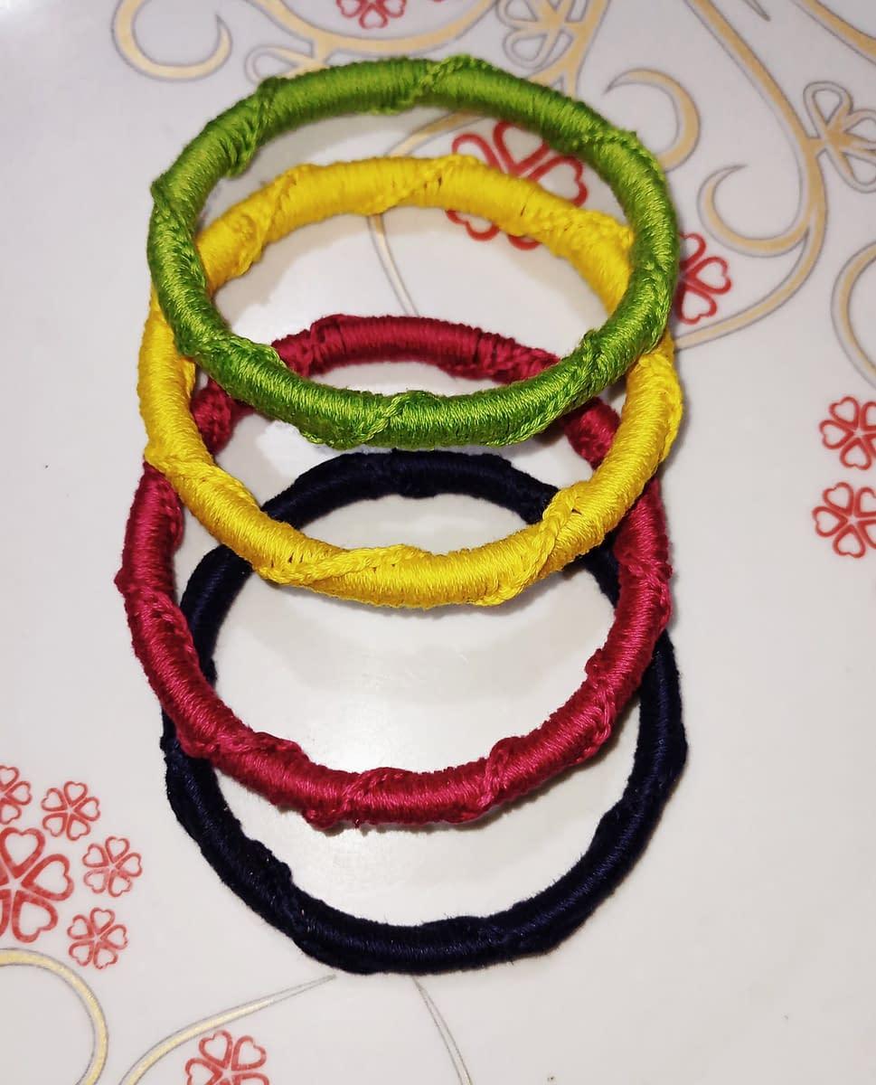 Handmade Knitted Bangles 4