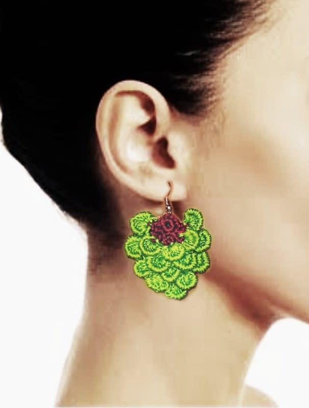 Handmade Yammy green earrings 3