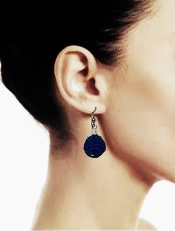 Handmade Crochet bead earrings 3