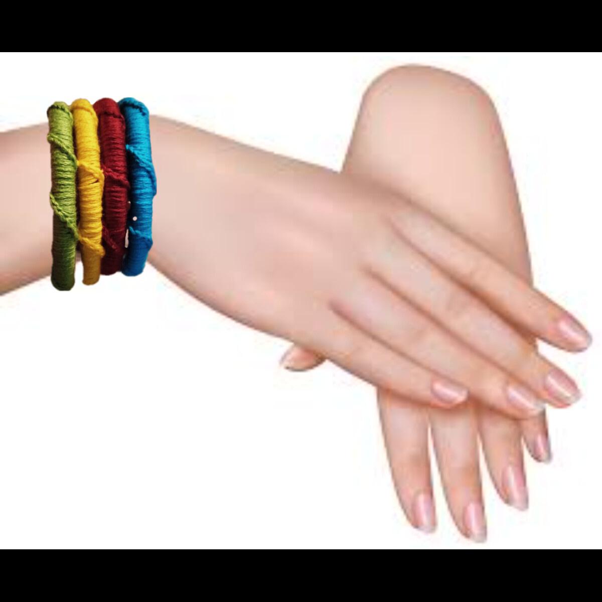 Handmade Knitted Bangles 3