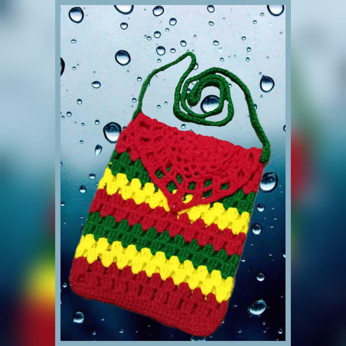 Handmade Crochet sling bag 3