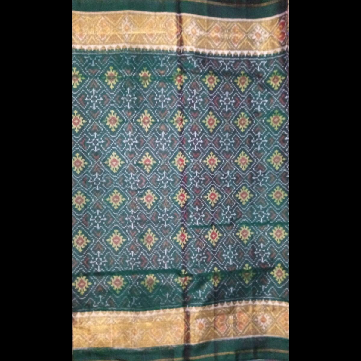 Handmade Green Patan handwoven patola silk Saree 3