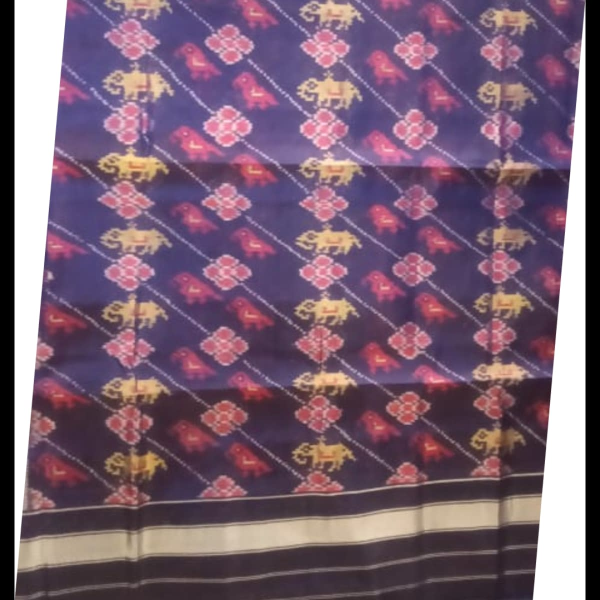 Handmade Purple Patan handwoven patola silk dupatta 4