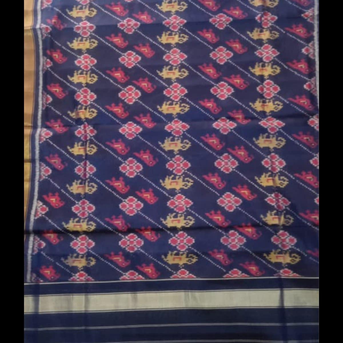 Handmade Purple Patan handwoven patola silk dupatta 3