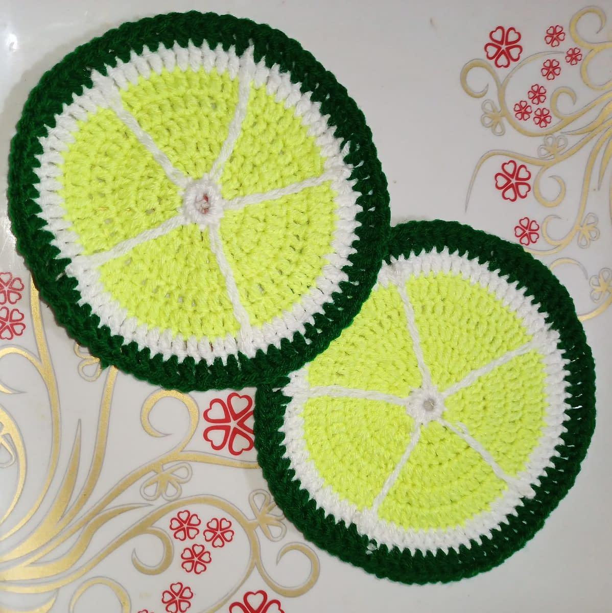 Handmade Crochet coasters 4