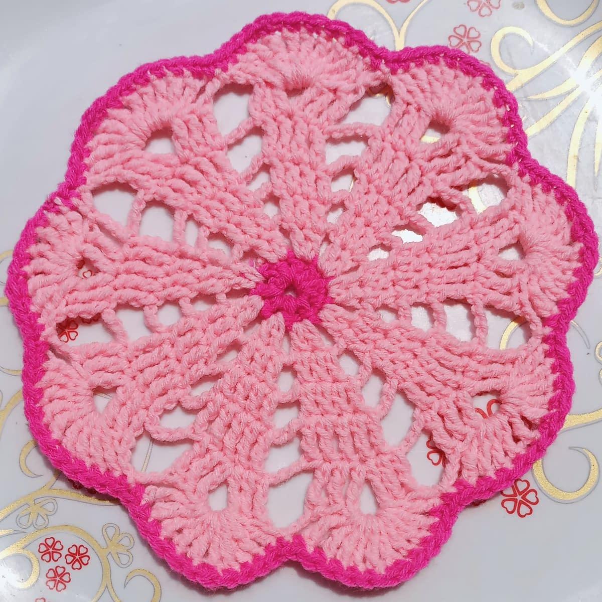 Handmade Crochet coaster 3