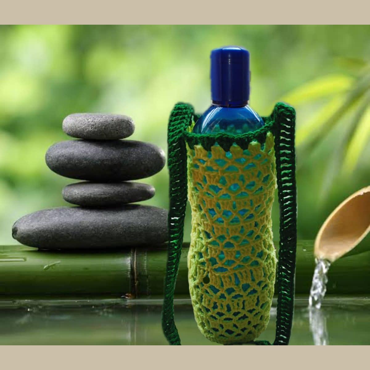 Handmade Crochet water bottle bag 3
