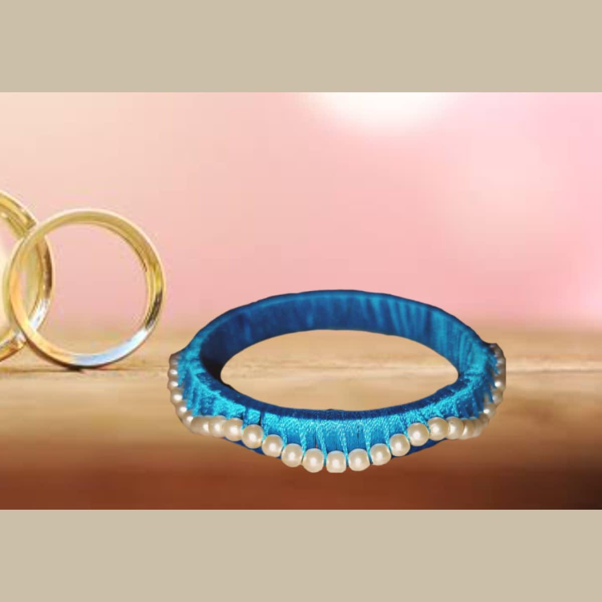 Handmade Blue Bangle 4