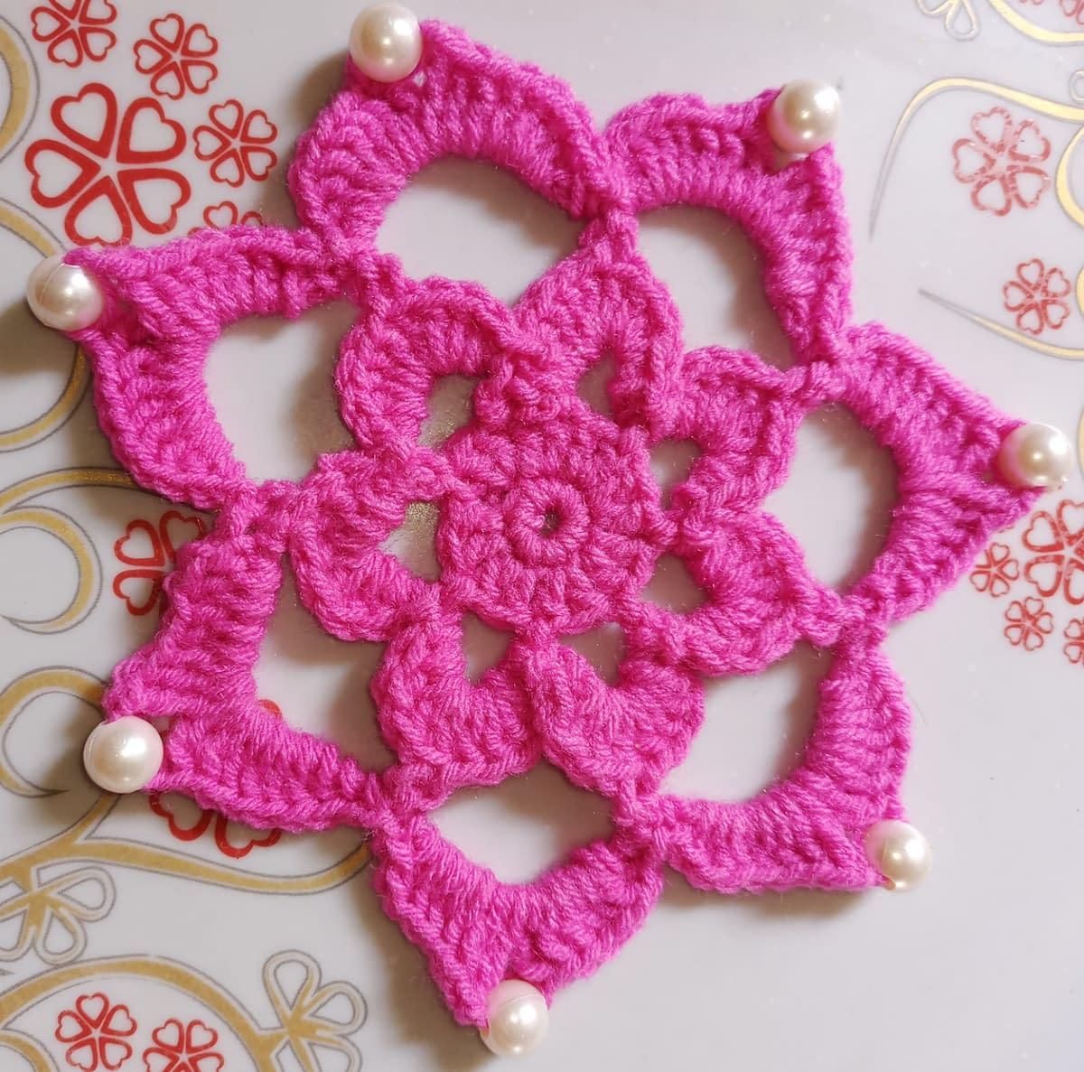 Handmade Crochet coaster 4