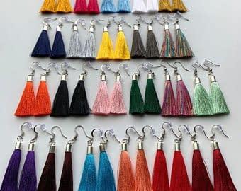 Handmade Handmade tassel earrings 3