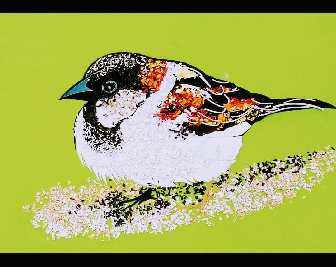 Handmade 3d Portrait of Bird 3