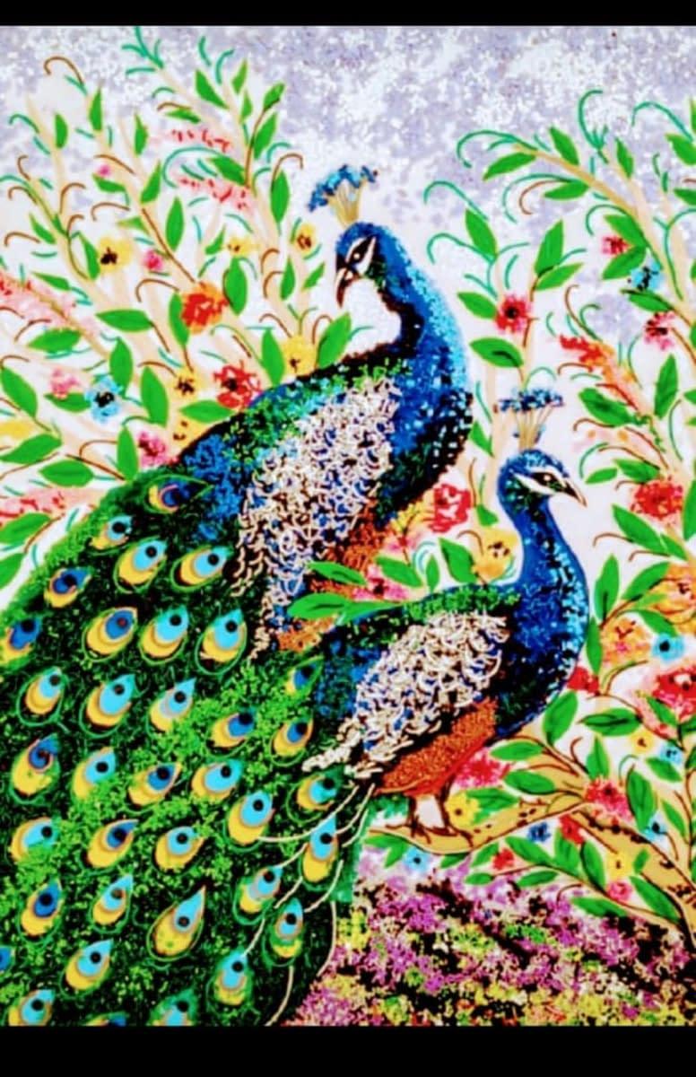 Handmade 3d Portrait of Peacocks 4