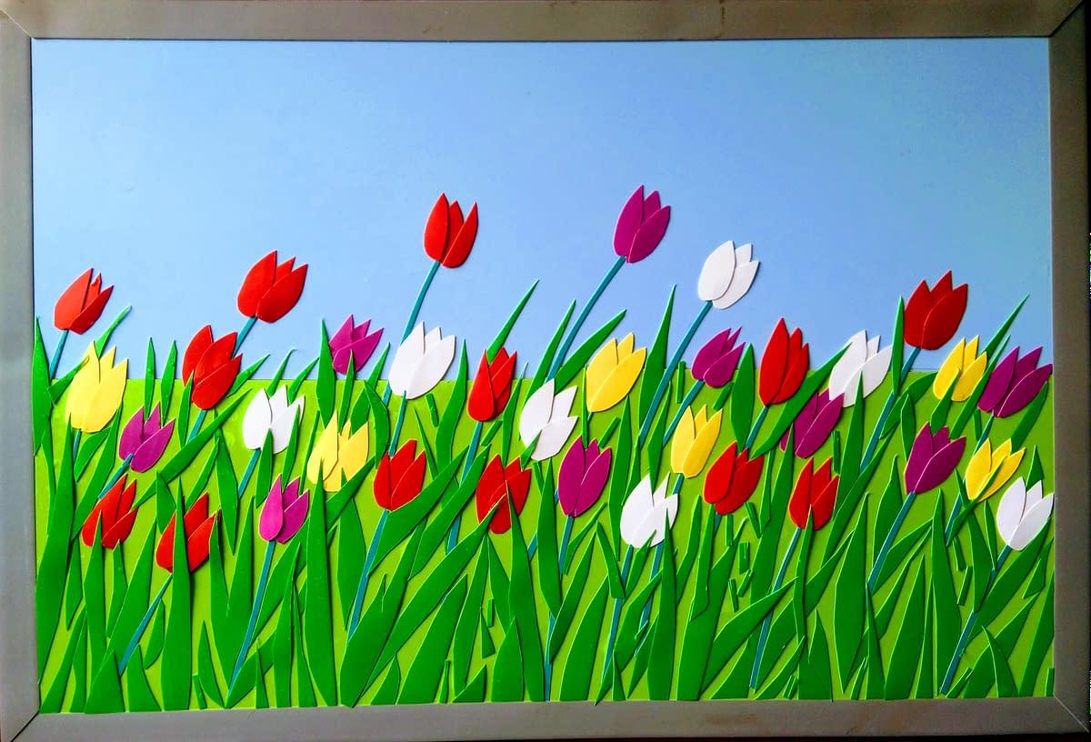 Handmade 3d flowers art 3