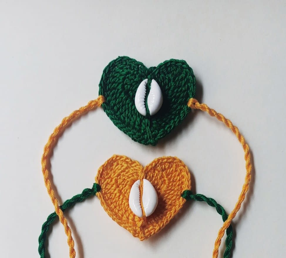Handmade Crochet Rakhi-4 4