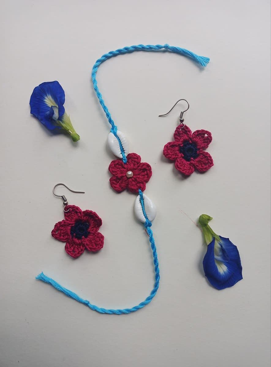 Handmade Crochet Rakhi-6 3