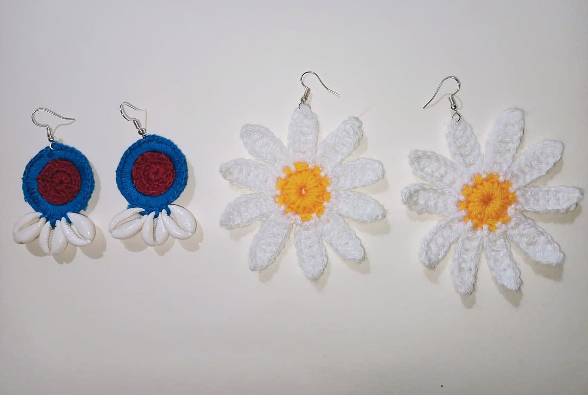 Handmade Crochet earrings combo 3