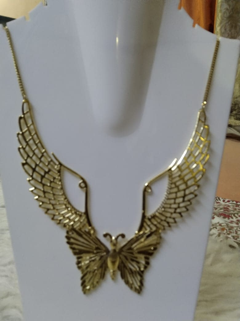 Handmade Angel's Wings Necklace with Butterfly Pendant 4