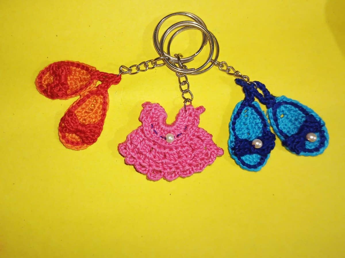 Handmade Crochet keychains set 4