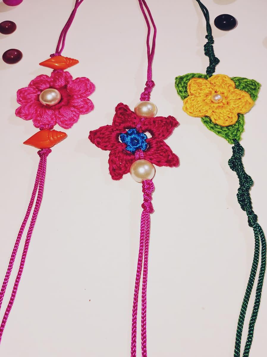 Handmade Crochet Rakhi-2 4