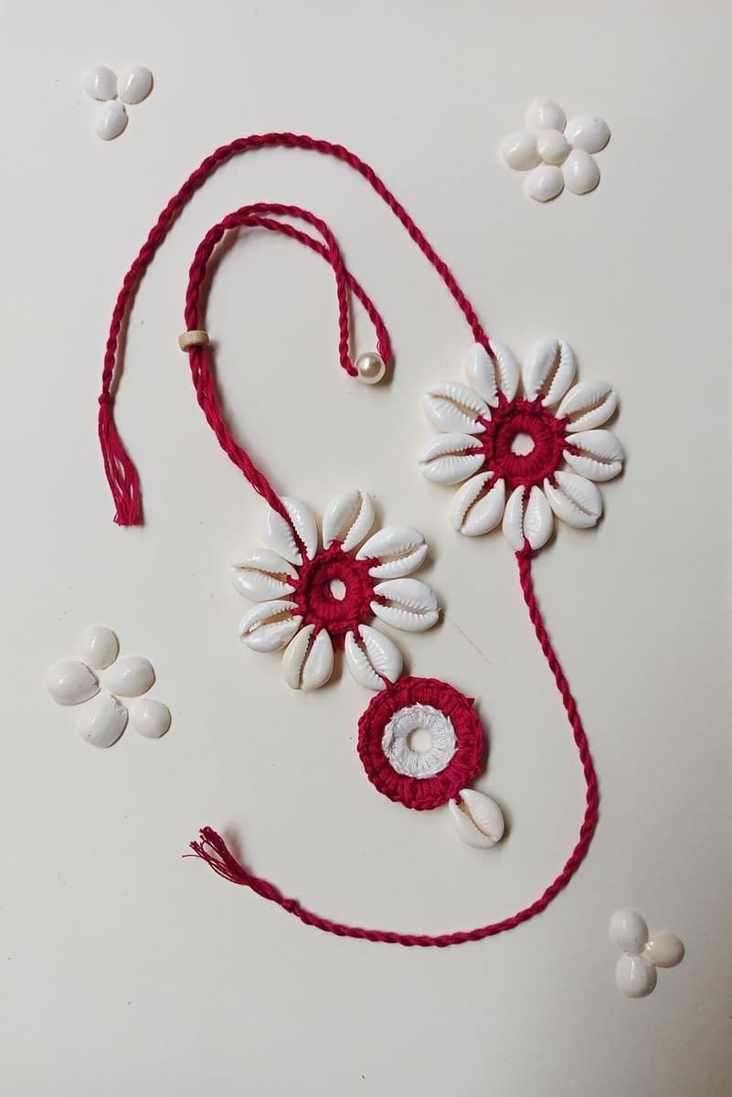 Handmade Crochet Lumba Rakhi 3