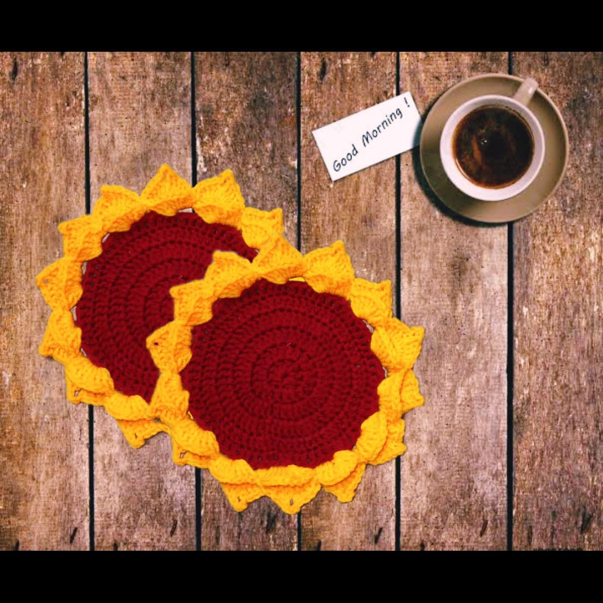 Handmade Crochet coasters combo 4