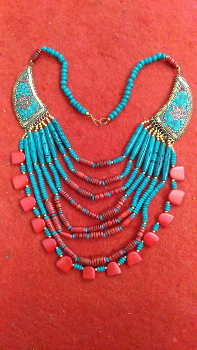 Handmade Tribal Beaded Necklace 3