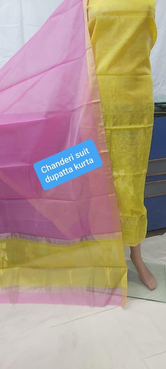 Handmade Chanderi Suit Pcs 3