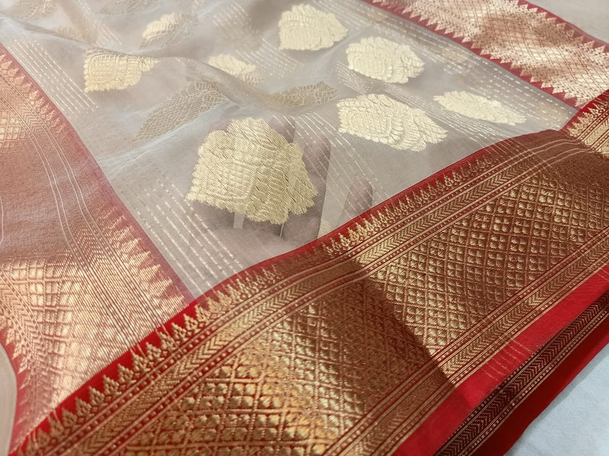 Handmade Chanderi Katan Silk 5