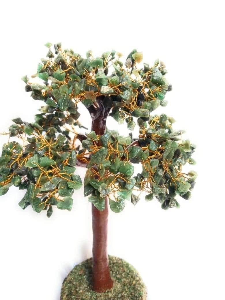 Handmade Green Agate chips tree 3