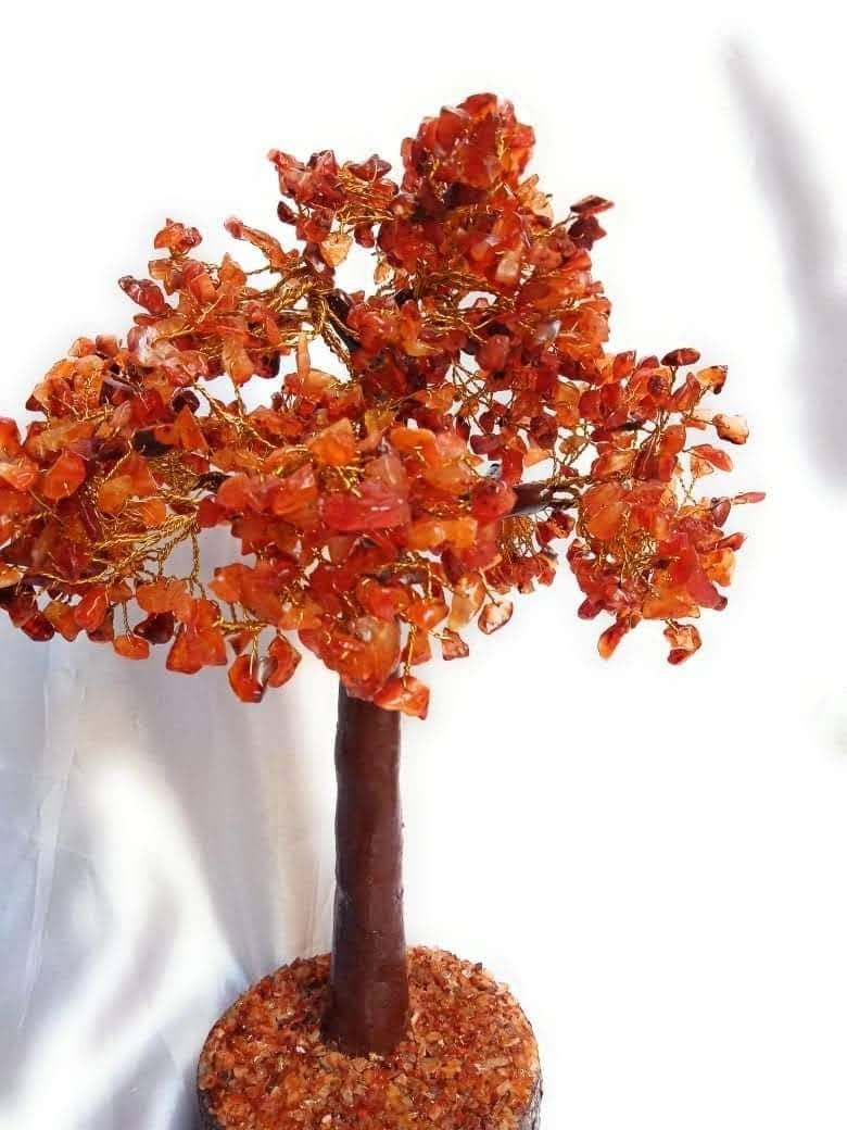 Handmade Red Carnelian chips tree 3