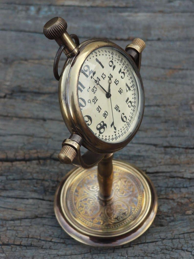 Handmade Desktop clock , Table Clock , Table watch custom gift 5