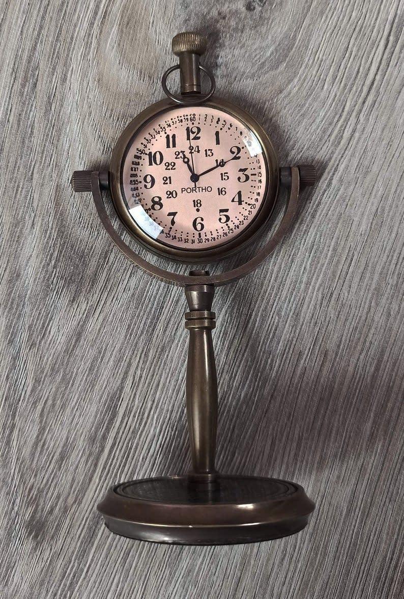 Handmade Desktop clock , Table Clock , Table watch custom gift 6