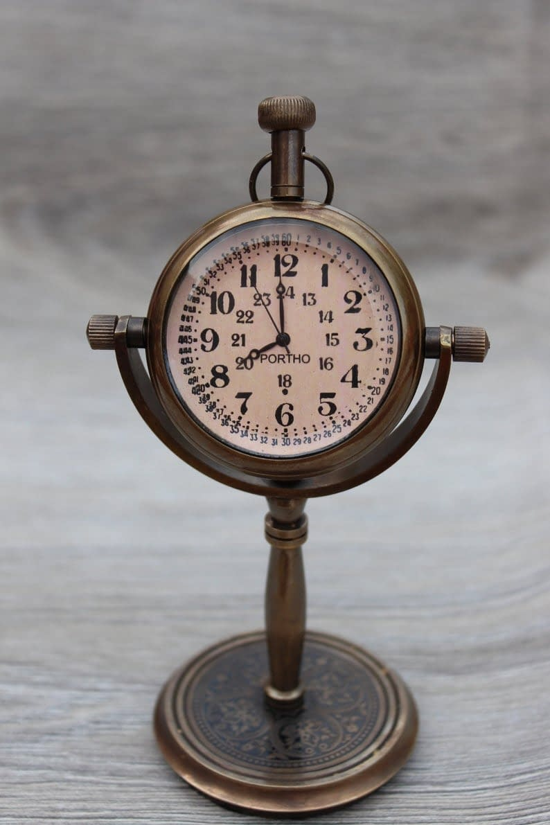 Handmade Desktop clock , Table Clock , Table watch custom gift 7
