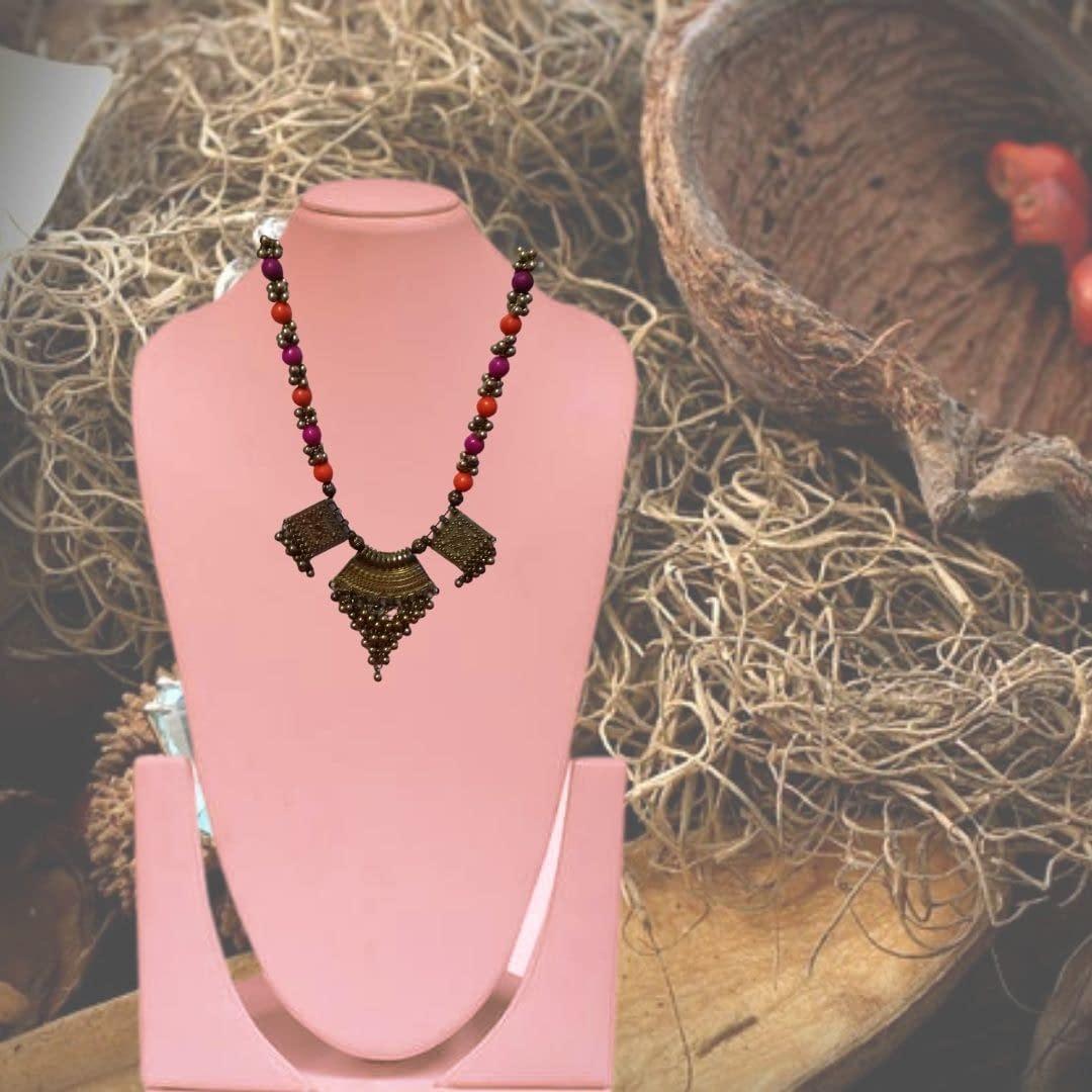 Handmade Bead Mala With Pendents 3