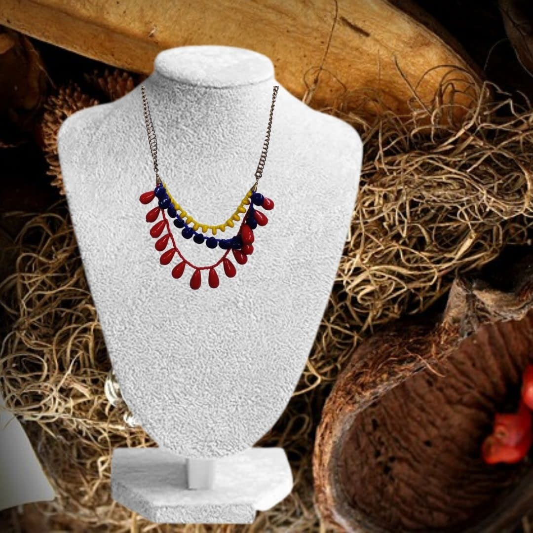 Handmade Colorful neckalce for casual occation 3