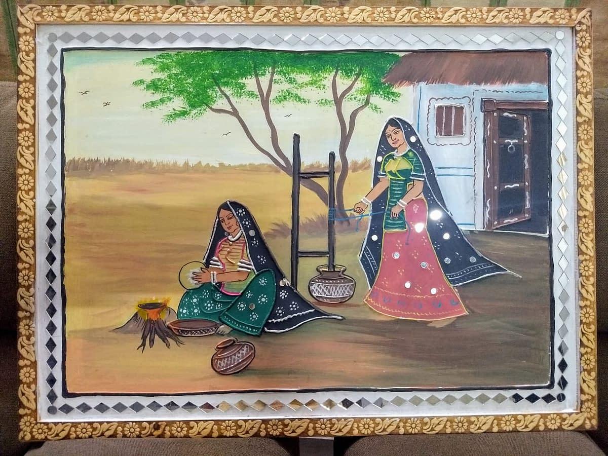 Handmade Mud-art painting 4