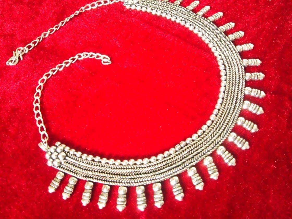 Handmade German silver oxidized Necklace 3