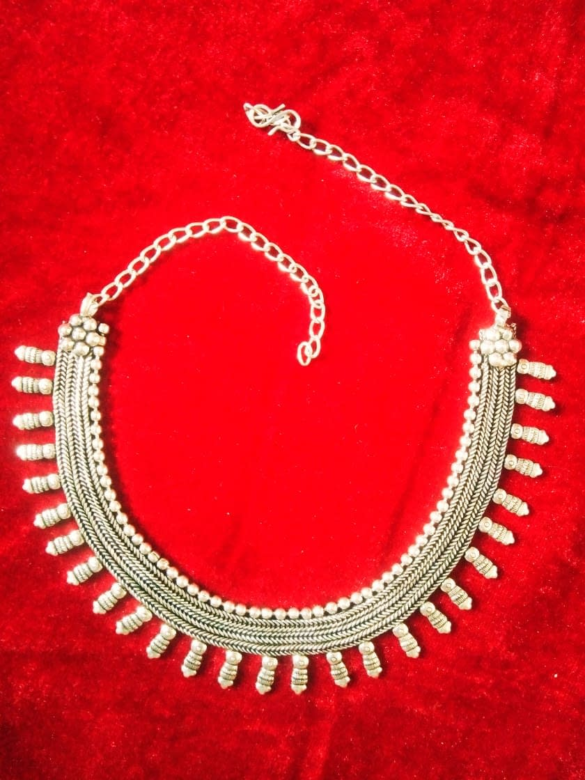 Handmade German silver oxidized Necklace 4