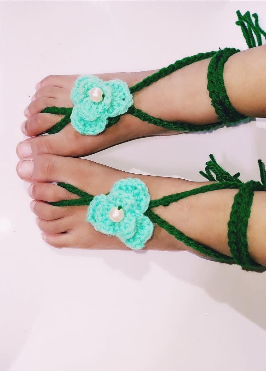 Handmade Crochet baby accessories combo set 4