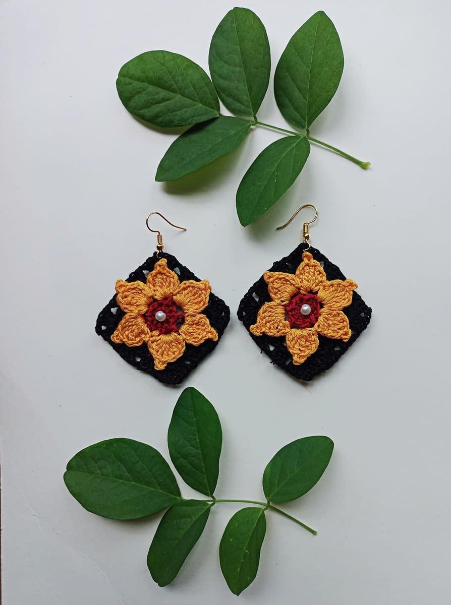 Handmade Crochet earrings 5