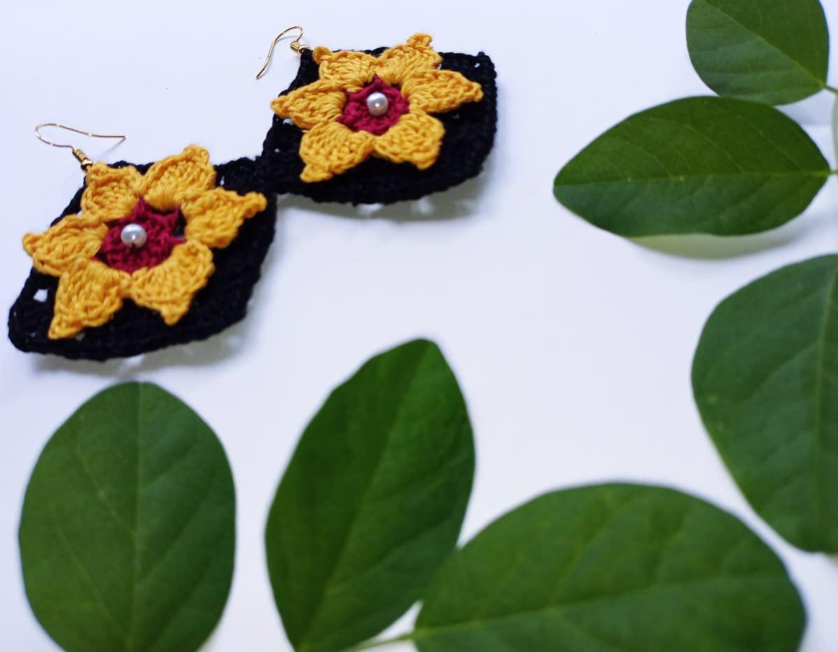 Handmade Crochet earrings 4