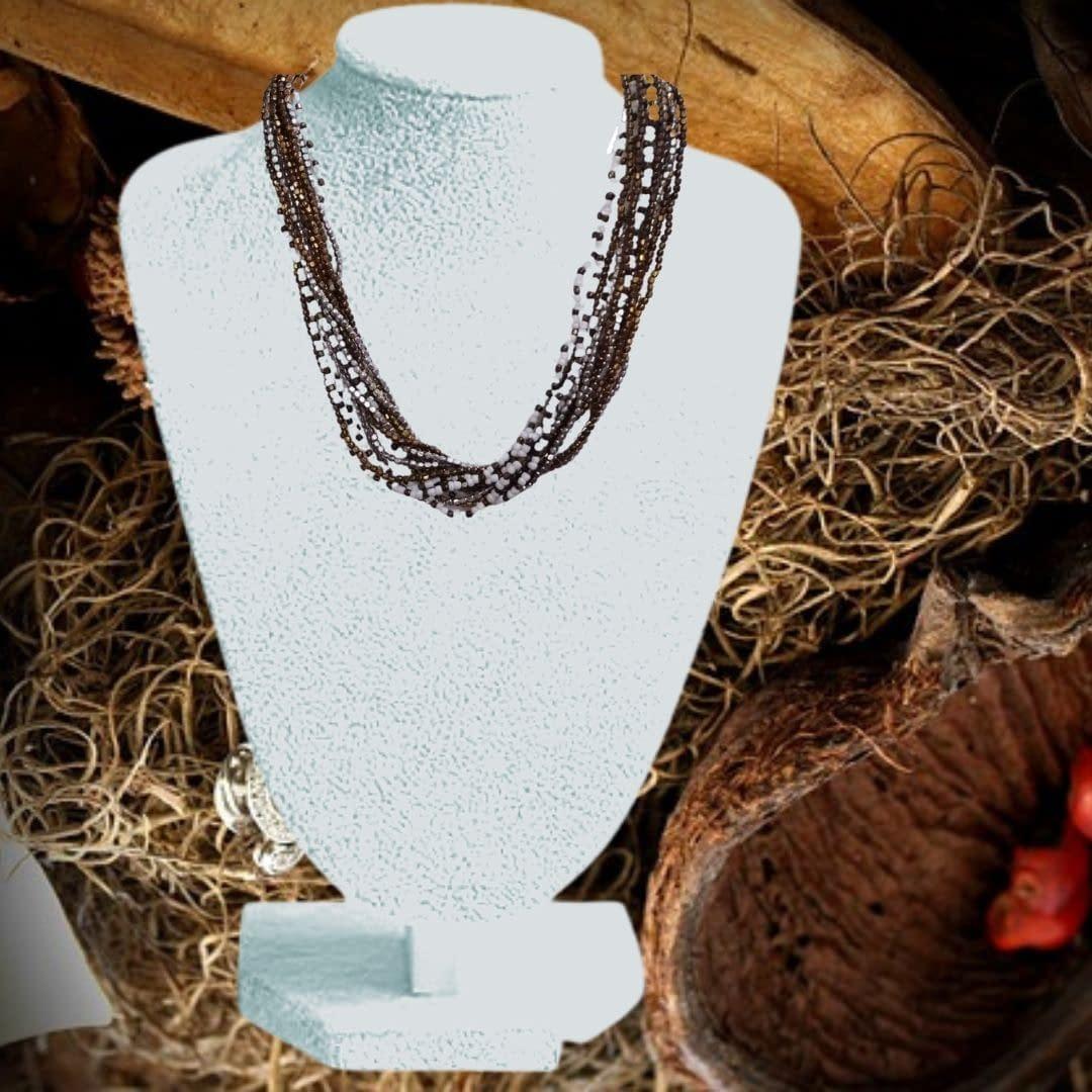 Handmade Multi loop Designer Necklace 3