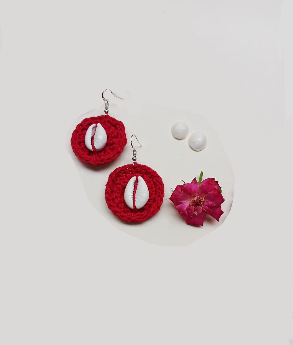 Handmade Crochet kawri juellary set 6