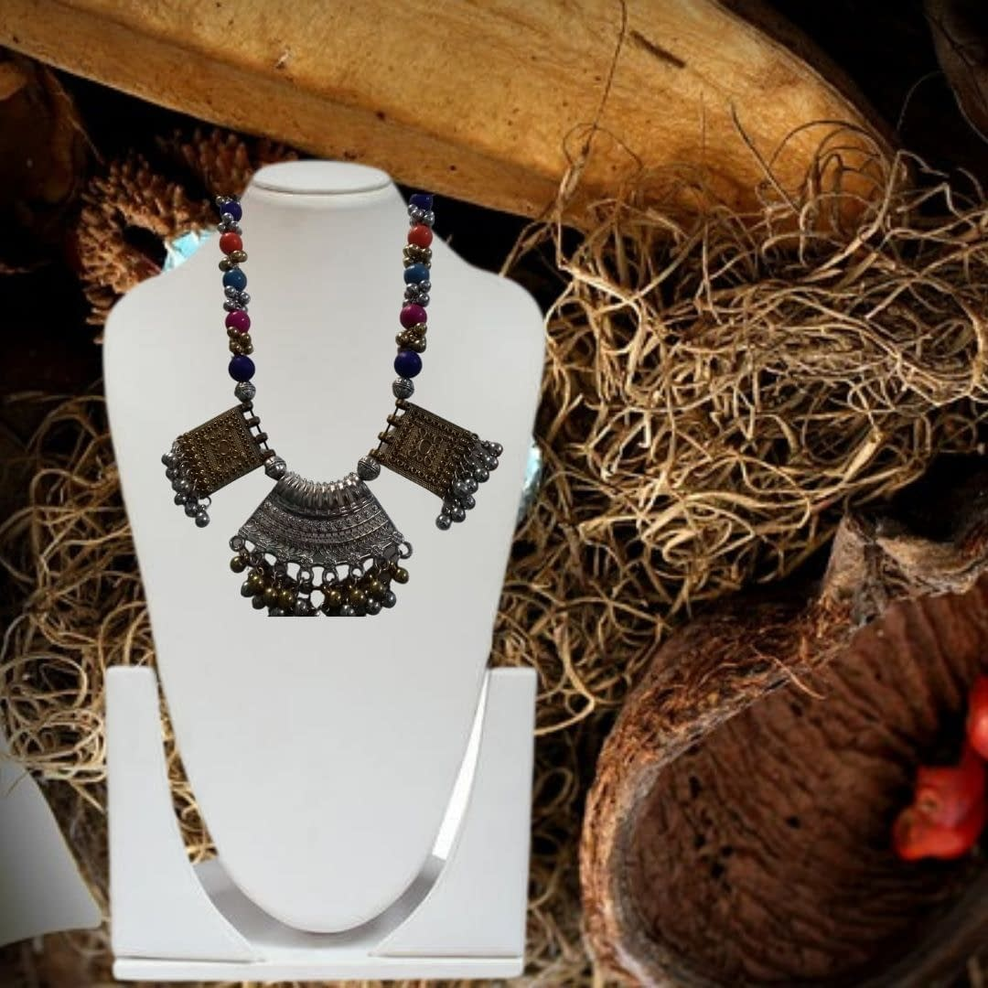 Handmade Tribal colorful necklace 3